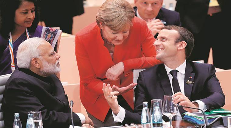 G20 Summit, Narendra Modi, donald trump, Demonetization, BRICS meet, Modi Xi meeting, Hamburg protests, Xi Jinping, G20 Summit, Angela Merkel, Indian Express