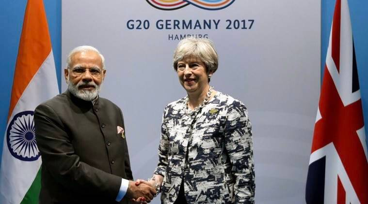 PM Narendra Modi, PM Modi, Modi-Theresa May, Modi-G20 summit, absconding Vijay Mallya, India-UK, India-Britain relations, Vijay Mallya, india news, indian express