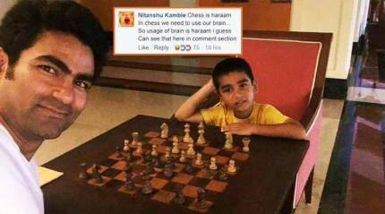NOT AGAIN! Mohammad Kaif roasted for playing chess with his kid in the name of Islam