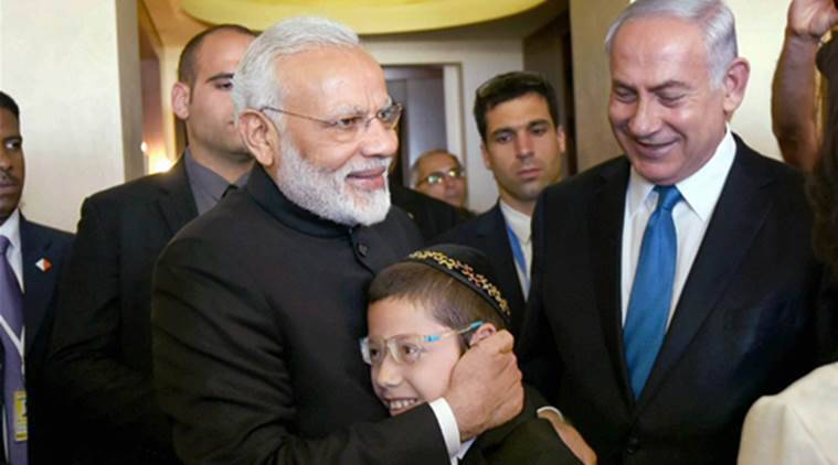 Moshe Holtzberg,Benjamin Netanyahu, Baby Moshe visits India, 26/11 Mumbai terror attack, Netanyahu visits India, PM Narendra Modi, Palestine, Jerusalem, Indian Express