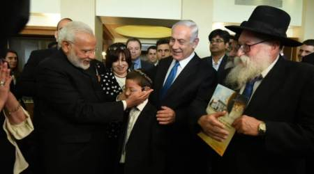 PM Modi meets Moshe in Israel, invites 26/11 attack survivor to visit India