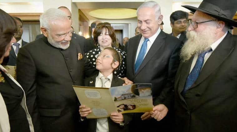 Narendra Modi Meets Moshe Holtzberg, Moshe Holtzberg mumbai attack survivor, Benjamin Netanyahu Modi, Indian express