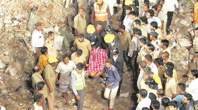 Ghatkopar building collapse, Ghatkopar building collapse inquiry, Ghatkopar building collapse report, Civic body on Ghatkopar building collapse, mumbai news, indian express news