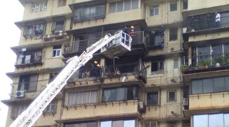 Major fire at Worli building in Mumbai | The Indian Express