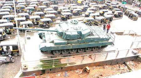 Four years later, battle tank outside Mumbra station stands forgotten
