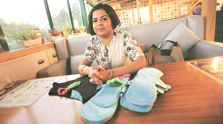 sanitary napkins, Priyanka Jain, menstrual hygiene, india news, indian express news