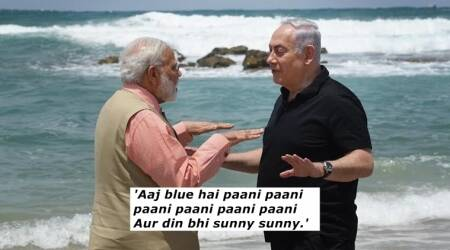 PM Modi and Israel PM Netanyahu took a walk on the beach; a wave of memes followed