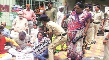 Families 'displaced' by land acquired for NDA in 1967: 15 detained for protesting outside MP Kakade's office