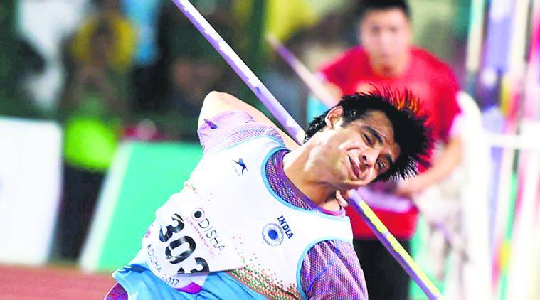 javelin thrower Neeraj Chopra, Asian Championship, 22nd Asian Athletics Championships, Paris leg of the Diamond League, Ahmed BA of Qatar, Cheng Chao-Tsun, sports news, indian express news