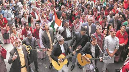 Hundreds of artistes march, sing in Nepali forGorkhaland