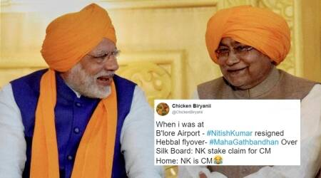 Nitish Kumar resigns and becomes Bihar CM again in less than 24 hours: Twitter buzzes with confusion andspeculations