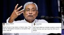 Nitish Kumar resigns as Bihar CM: Twitterati buzzing with praises and speculation