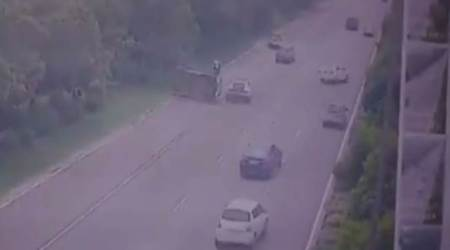 Watch: Lamborghini among three cars involved in Noida expressway accident; 1dead