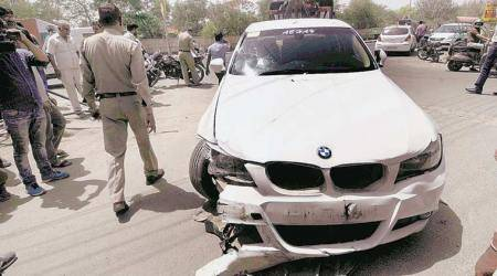 BMW accidents, chandigarh bmw accidents, ssp tweets to BMW, chandigarh ssp tweet, chandigarh city news, indian express