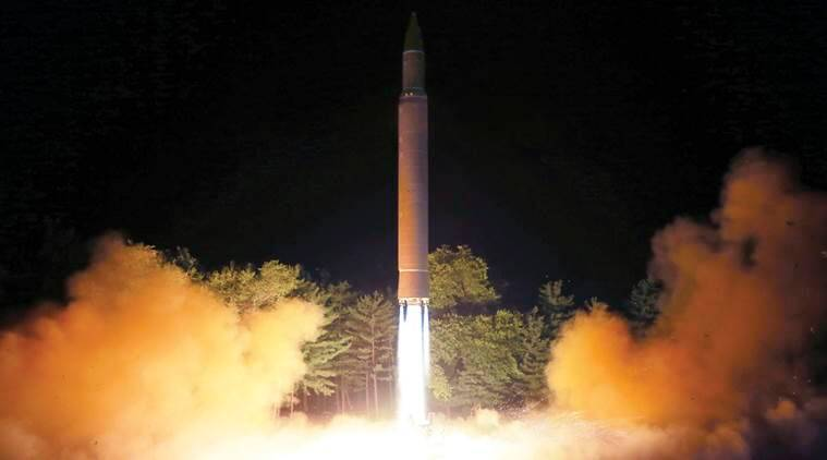 north korea, ballistic missile, japan, tokyo, south korea, seoul, guam, n korea missile over japan, world news, icbm, indian express
