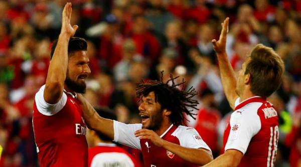 Olivier Giroud, Alexandre Lacazette, Arsenal, Arsene Wenger, Aaron Ramsey, Mohamed Elneny, Sydney FC, Football news, sports news, indian express