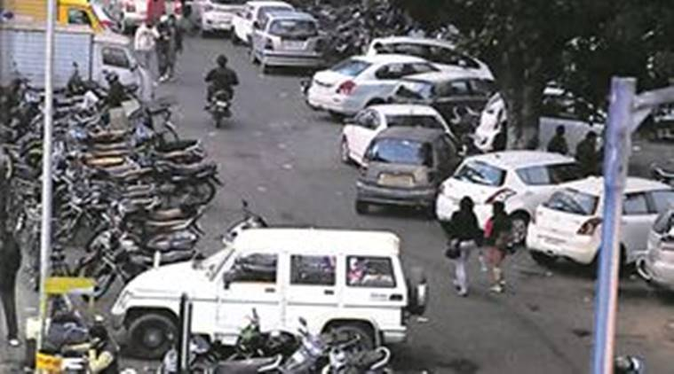 Chandigarh has no parking etiquette, Chandigarh Parking Problems, Chandigarh Parking lot, Chandigarh Traffic, Chandigarh news, Indian Express News