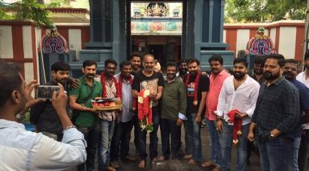 Venkat Prabhu's Party begins, the director set to serve a heady cocktail. Seephotos