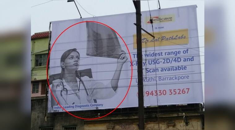 dr. lal path lab, funny posters, funny advertisements, twitter reactions, indian express, indian express news