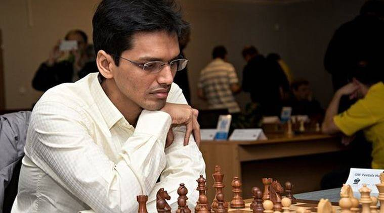 Pentala Harikrishna, Alexander Riazantsev, Micheal adams, Geneva FIDE Grand Prix, chess news, sports news, indian express