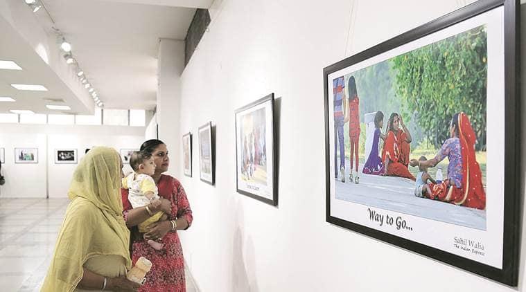 photo journalists,photo exhibition, chandigarh, girl child, pjwa, beti padhaobeti bachao, indian express