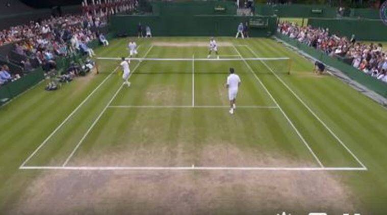 wimbledon 2017, wimbledon, 61 shots, play point, Mansour Bahrami, Michael Llorda, Lleyton Hewitt, Mark Philippoussis, tennis, sports news, indian express