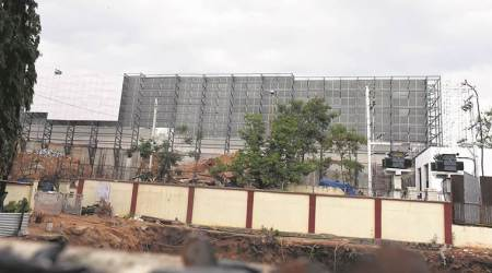 Latest in Telangana CM K Chandrasekhara Rao's security: Giant metal sheets to blockview