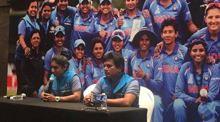 Indian women's cricket team receive rousing reception on return at the Mumbai Airport, watch