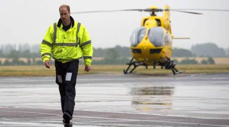 prince william, britain, uk, air ambulance, royal duties, full time prince, indian express