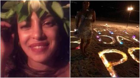 Priyanka Chopra is an island queen sending love to her fans on her birthday. See photo, video