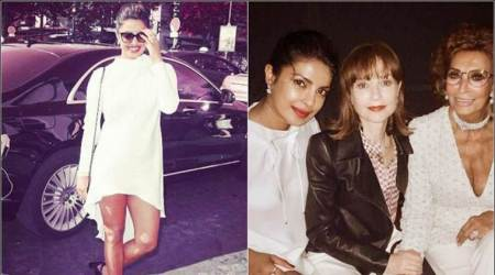 Priyanka Chopra attends Armani fashion show in Paris