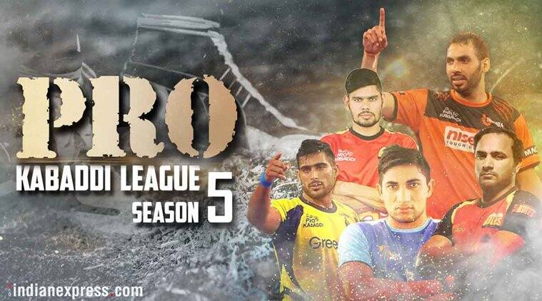Pro Kabaddi League 2017, PKL season 5, PKL captains, Anup Kumar, Rahul Chaudhari, Surender Nada, Kabaddi news, Indian Express