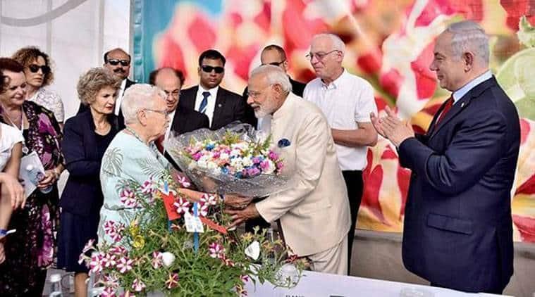 Modi in Israel, Narendra Modi, flower named after Modi, Modi flower, Modi Crysanthumun, Israel, India news, Israel news, Indian Express