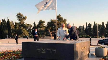Modi in Israel: Prime Minister makes impromptu visit to grave of Zionism's founder