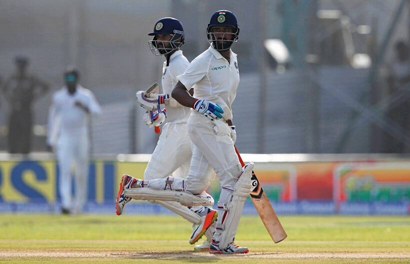 India strike early after setting Sri Lanka 550 to win