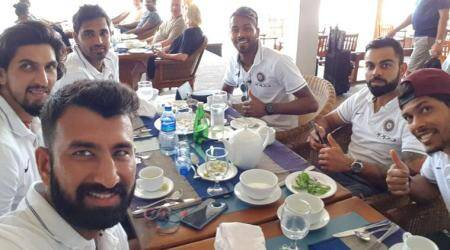 Ahead of first Test against Sri Lanka, Team India enjoys lunch; see pic