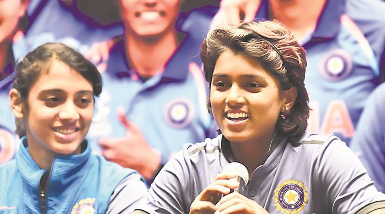 Indian women's cricket team felicitated by Sports Minister Vijay Goel