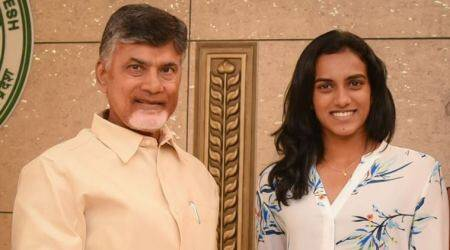 pv sindhu, N. Chandrababu Naidu, andhra pradesh chief minister N. Chandrababu Naidu, andhra pradesh, badminton, sports news, indian express