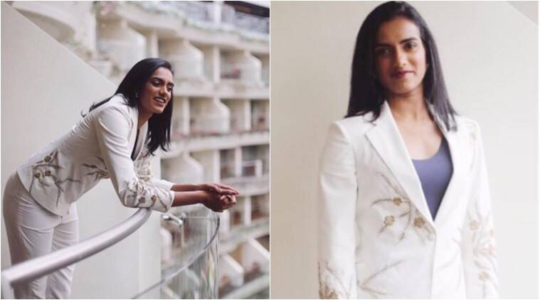 pv sindhu, pv sindhu fashion, pv sindhu fashion inspiration, pv sindhu fifa u-17 world cup, pv sindhu pantsuit, pv sindhu pantsuit fashion, indian express, indian express news