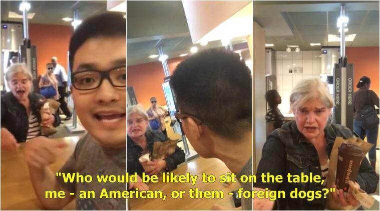 racism, rasict attack, racist rant, us racism, americans racist attack on asian, us racist rant on asain, us racism against chinese student, viral videos, indian express