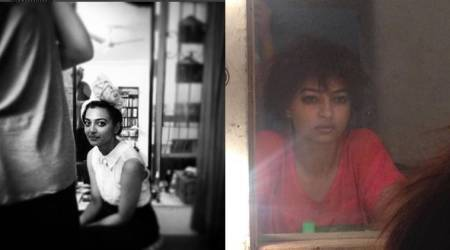 PadMan actor Radhika Apte shares stunning sneak peaks from her shoot life. See photos
