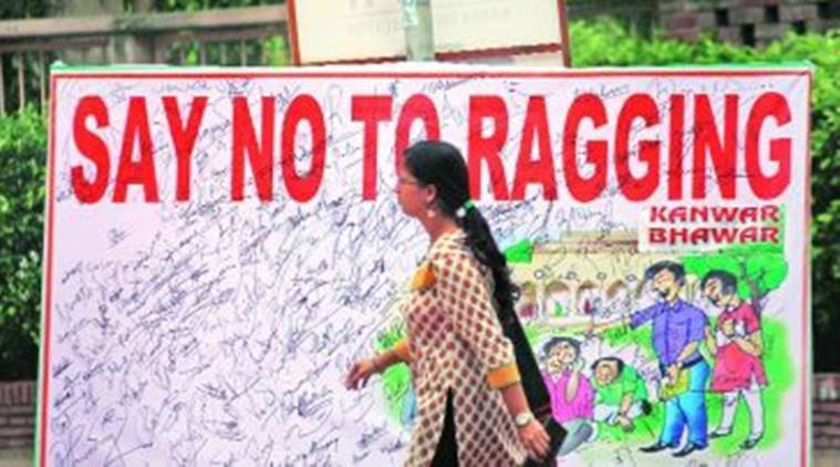 ragging abuse and senior students • at first it was limited to verbal abuse • psychological counselling on anti-ragging and human rights at the senior faculty members and senior students.
