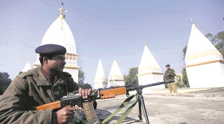 Raghunath temple, Raghunath temple attack, kashmir Raghunath temple, india news, indian express news
