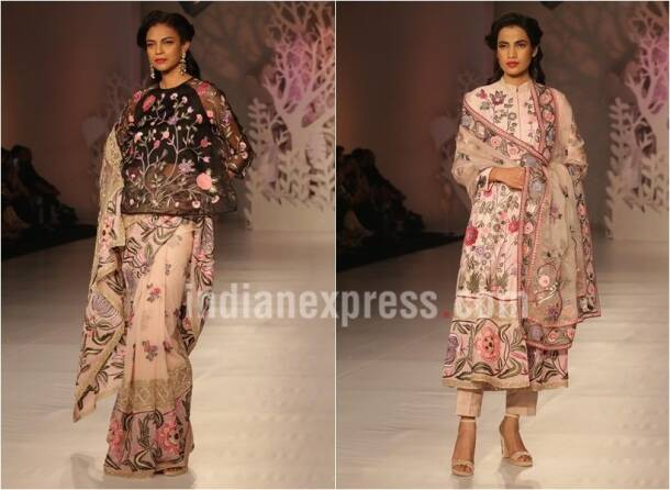 india couture week, icw 2017, rahul mishra, icw 2017 rahul misra, rahul mishra parizaad collection, rahul mishra sheer collection, fashion news, lifestyle news, indian express