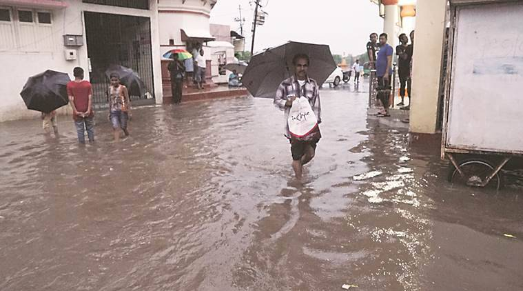 Gujarat rain, Gujarat Rain death, Gujarat rains, heavy rainfall deaths, Indian express, India news, latest news, Indian monsoon