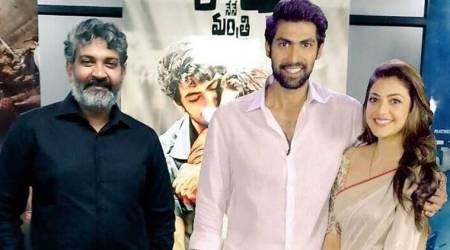Nene Raju Nene Mantri: When SS Rajamouli posed with 3D AR motion posters of Rana Daggubati