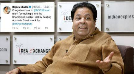Rajeev Shukla errs in wishing India women's team on reaching World Cup final