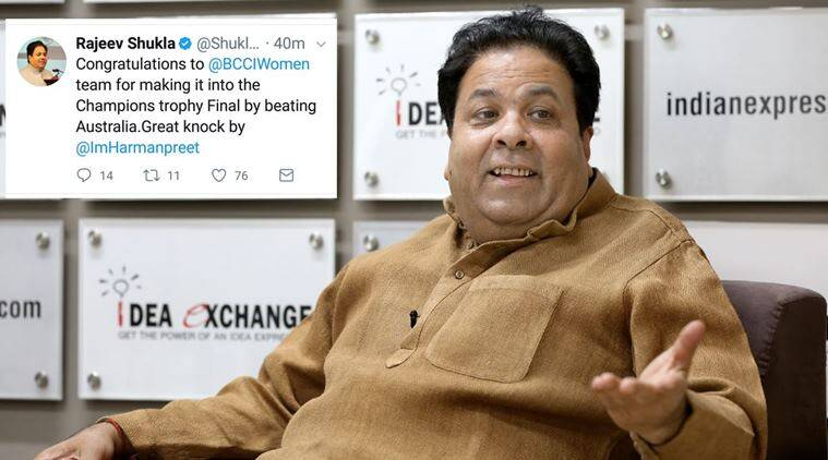 rajeev shukla, icc women world cup, india women world cup, cricket goof up, sports goof up, social media error, cricket news, indian express