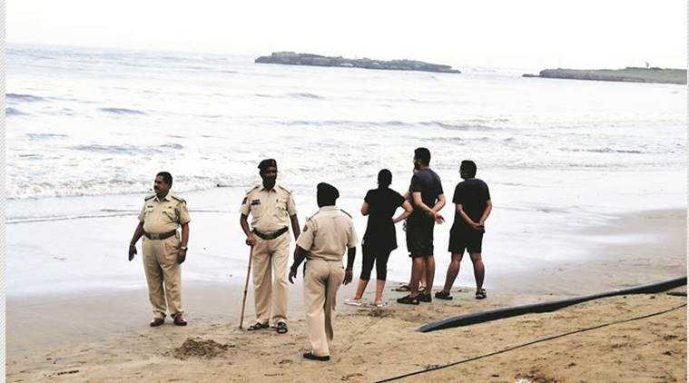 Diu bans swimming at beaches, Nagoa beach in Diu, Diu swimming ban, Diu drowning incident, Nagoa beach drownings, Diu beaches, Gujarat News, Indian Express News