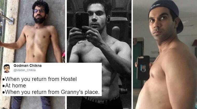 rajkummar rao, rajkummar rao body transformation, rajkummar rao bose, rajkummar rao latest pictures, rajkummar rao weight gain, rajkummar rao body, rajkummar rao diet, rajkummar rao twitter reaction, indian express, indian express news